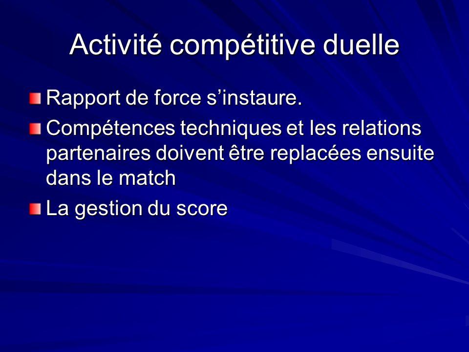 Activité compétitive duelle