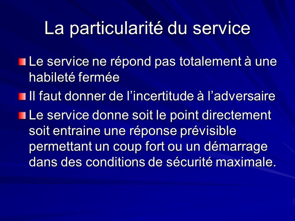 La particularité du service