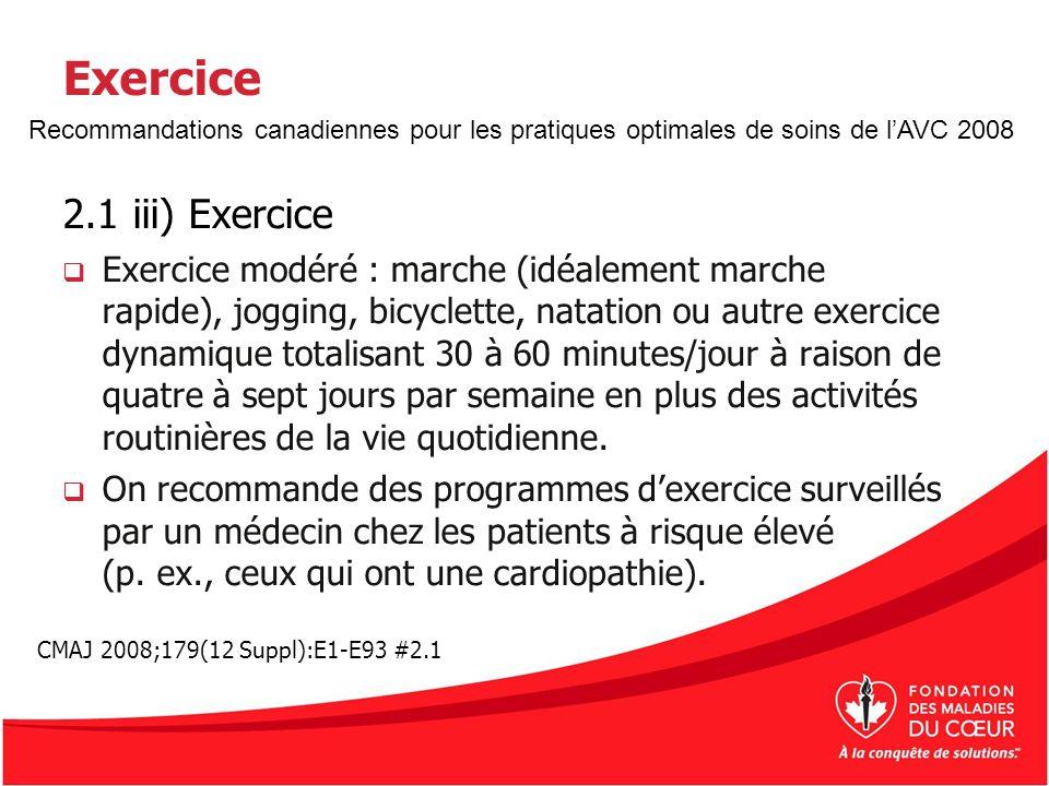 Exercice 2.1 iii) Exercice