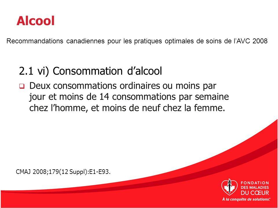 Alcool 2.1 vi) Consommation d'alcool