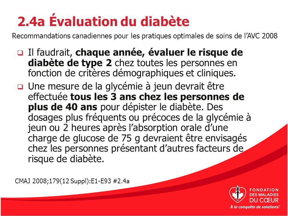 2.4a Évaluation du diabète