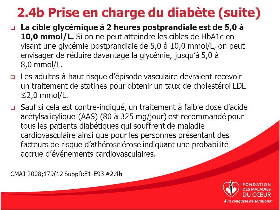 2.4b Prise en charge du diabète (suite)