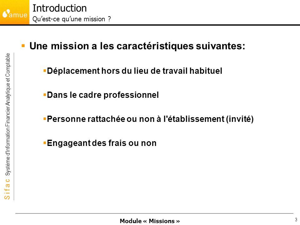 Introduction Qu'est-ce qu'une mission