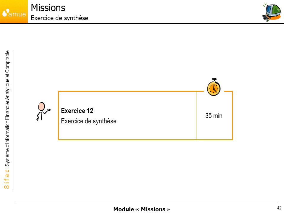 Missions Exercice de synthèse