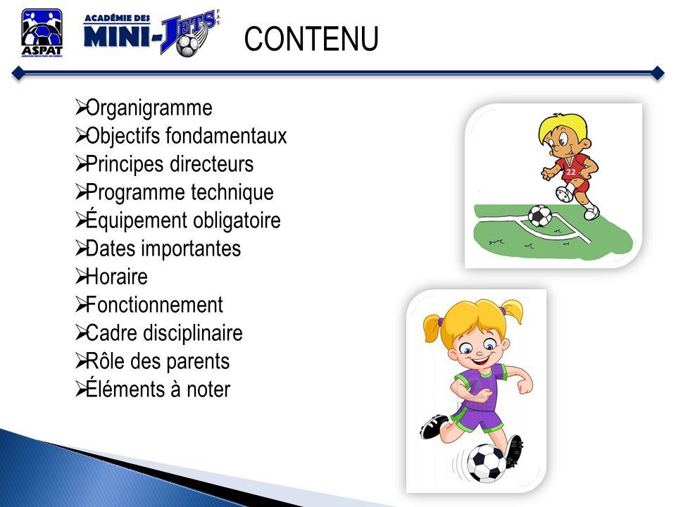 CONTENU Organigramme Objectifs fondamentaux Principes directeurs