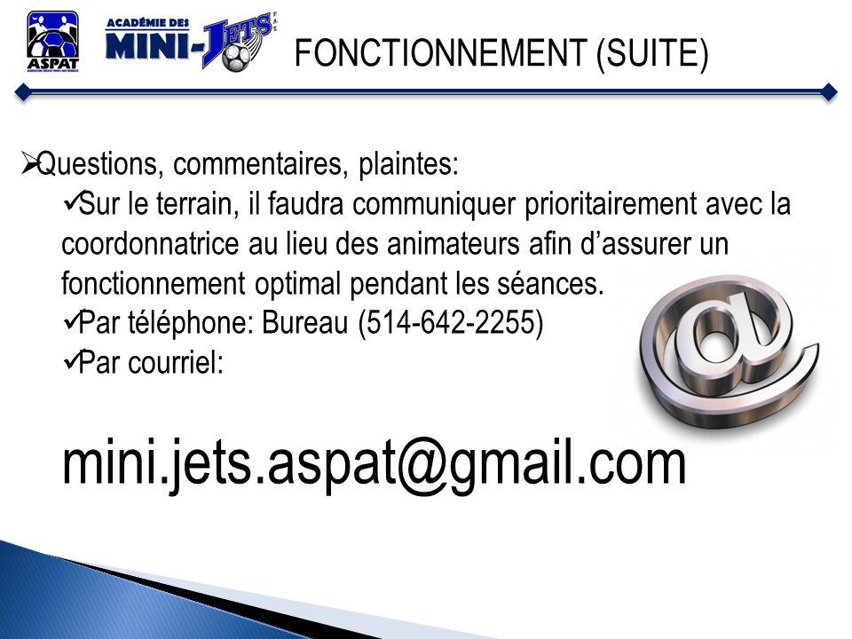 mini.jets.aspat@gmail.com FONCTIONNEMENT (SUITE)