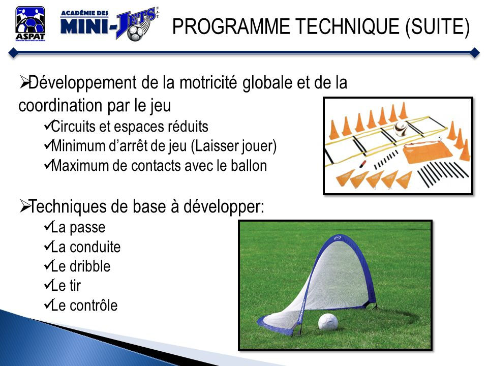 PROGRAMME TECHNIQUE (SUITE)