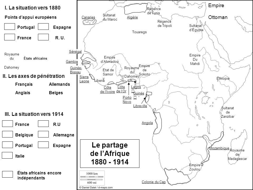 Le partage de l'Afrique 1880 - 1914