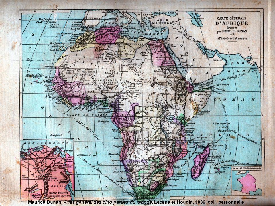 Maurice Dunan, Atlas général des cinq parties du monde, Lecène et Houdin, 1889, coll. personnelle