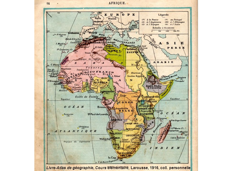 Livre-Atlas de géographie, Cours élémentaire, Larousse, 1916, coll