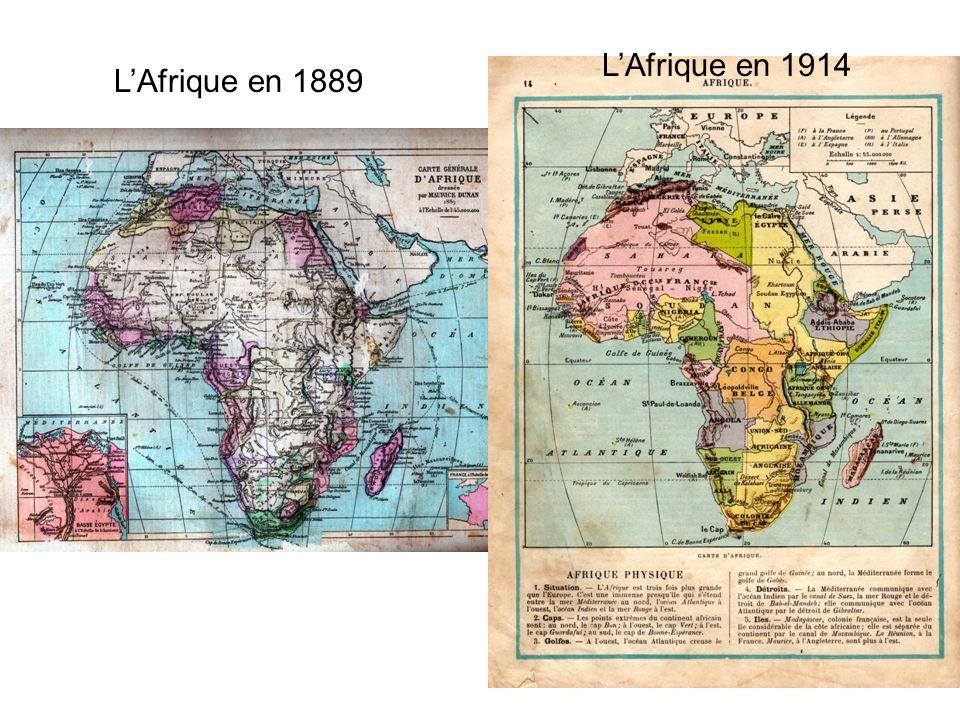 L'Afrique en 1914 L'Afrique en 1889 8