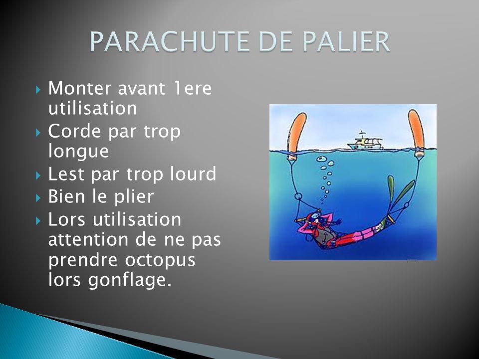 PARACHUTE DE PALIER Monter avant 1ere utilisation