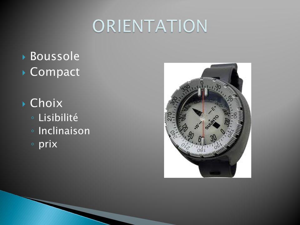 ORIENTATION Boussole Compact Choix Lisibilité Inclinaison prix