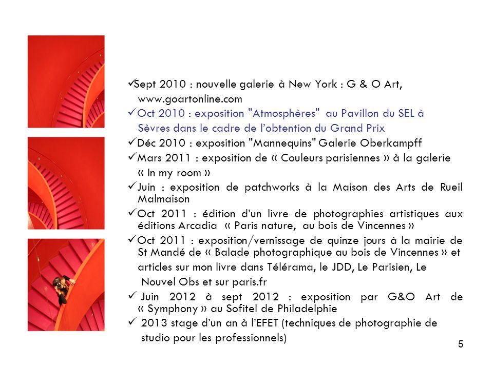 Sept 2010 : nouvelle galerie à New York : G & O Art,