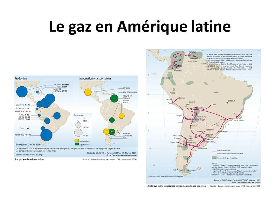 Le gaz en Amérique latine