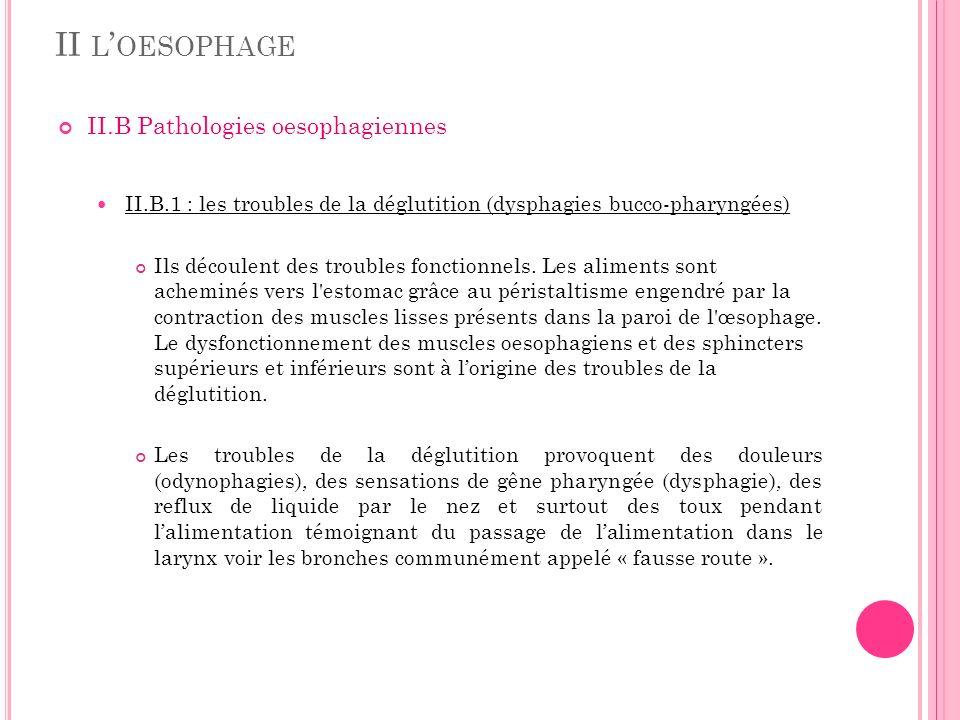 II l'oesophage II.B Pathologies oesophagiennes