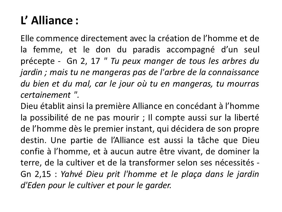 L' Alliance :