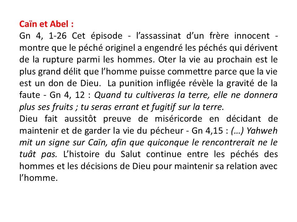 Caïn et Abel :