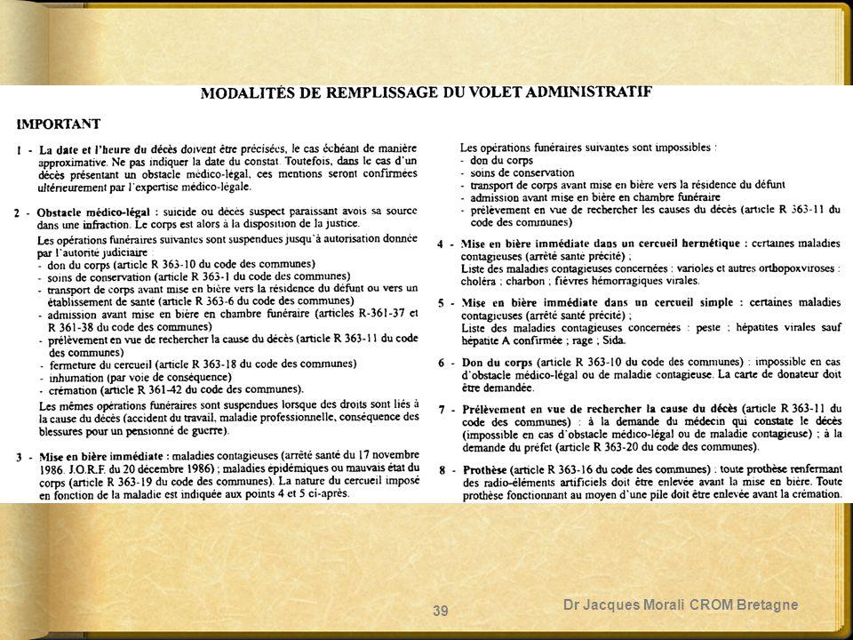 Dr Jacques Morali CROM Bretagne