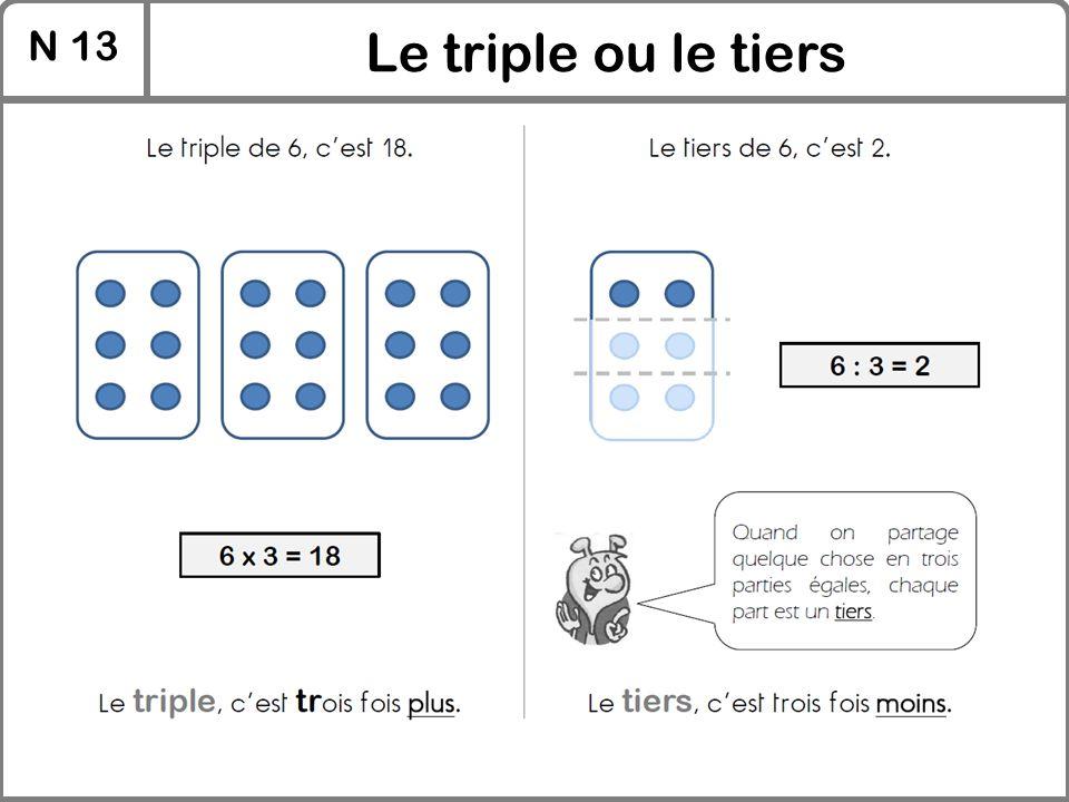 N 13 Le triple ou le tiers