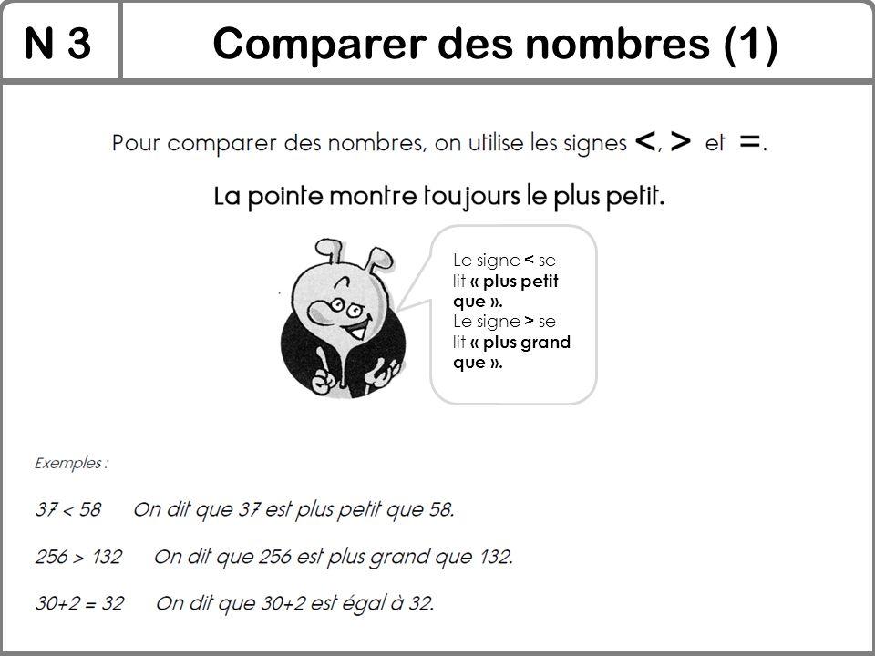 Comparer des nombres (1)