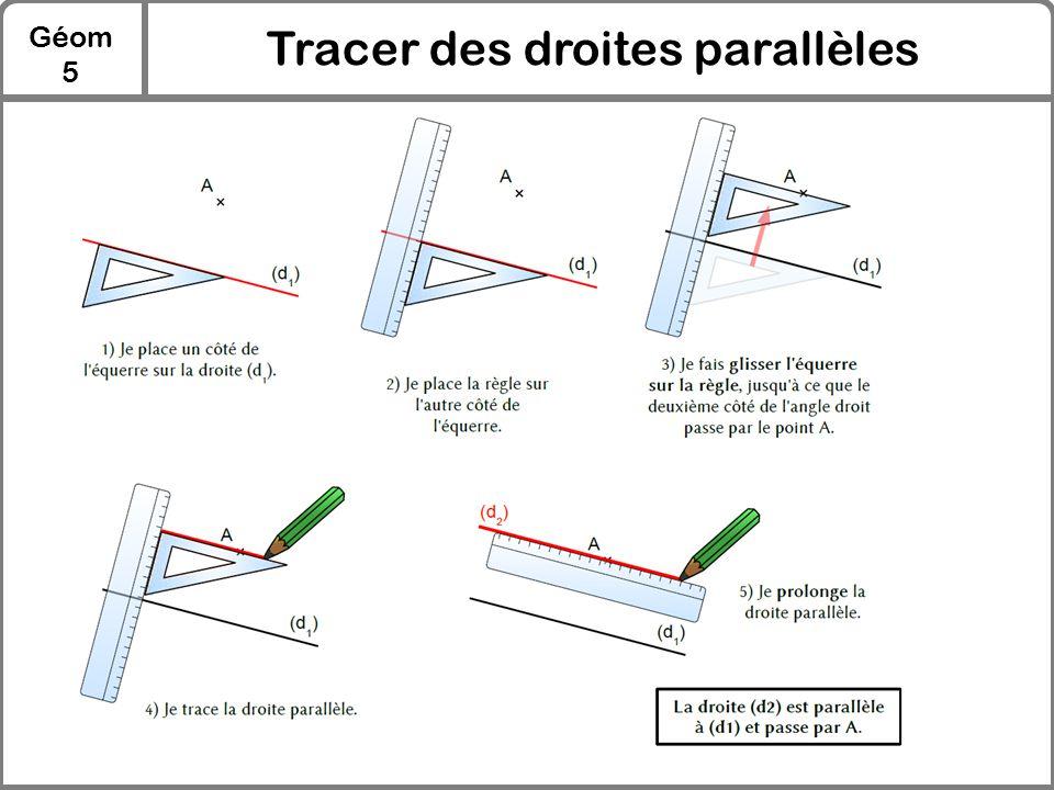 Tracer des droites parallèles