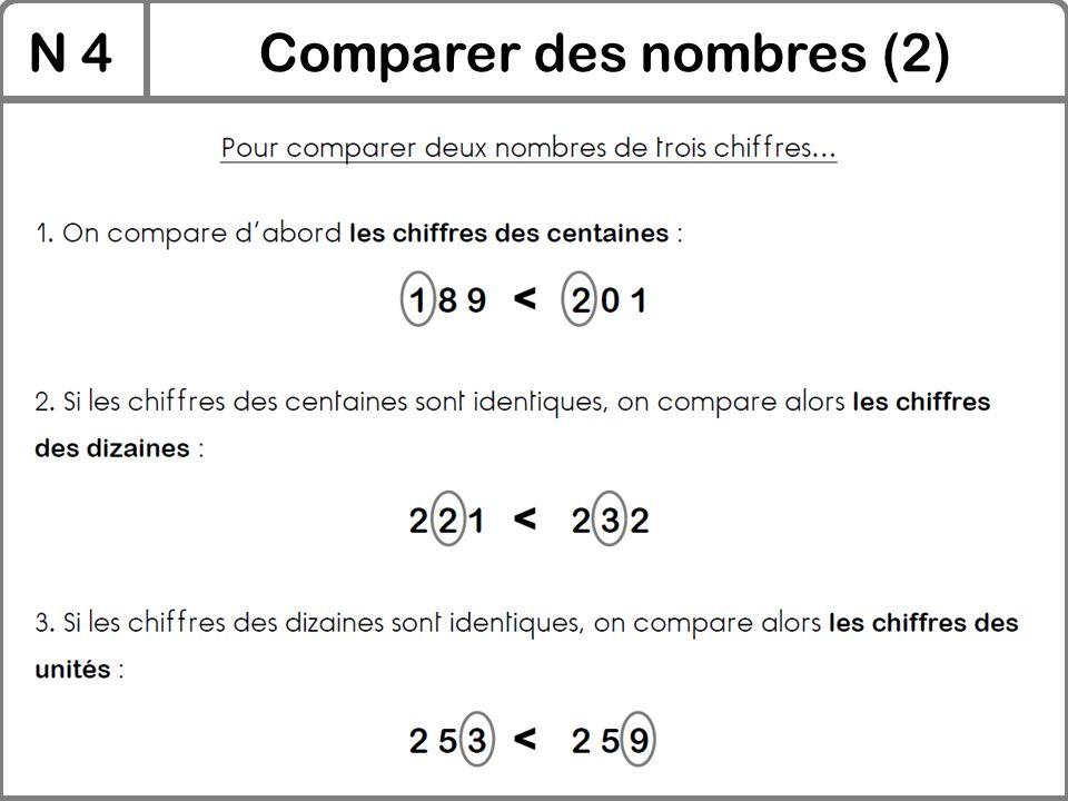 Comparer des nombres (2)