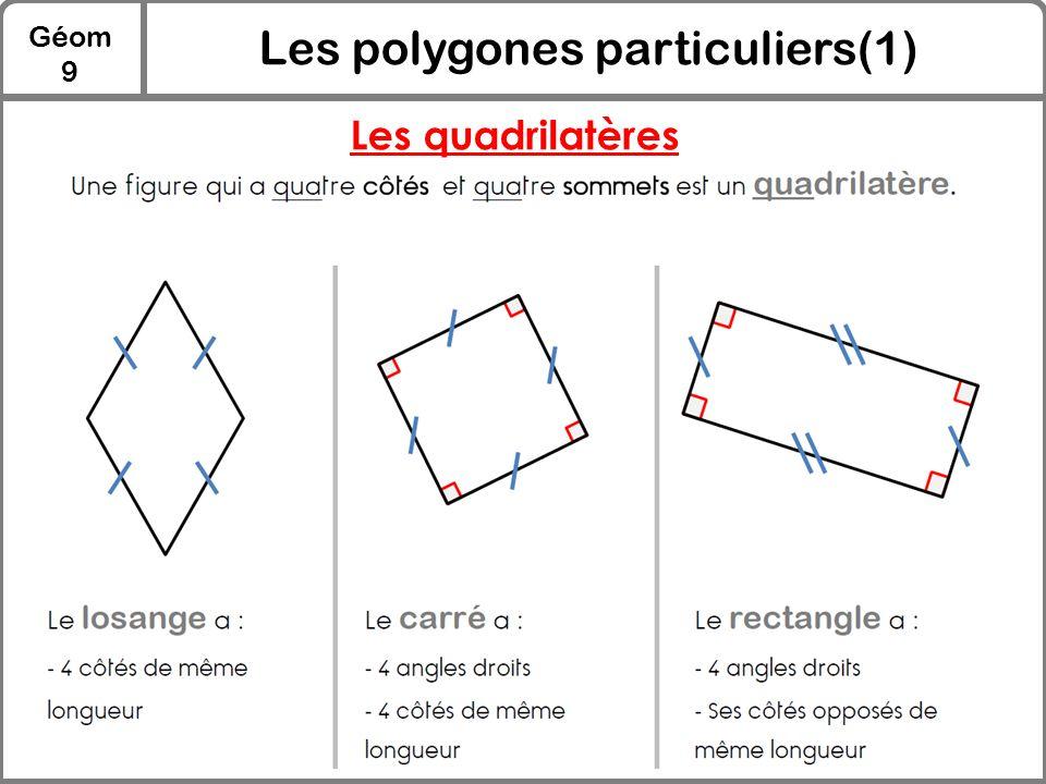 Les polygones particuliers(1)