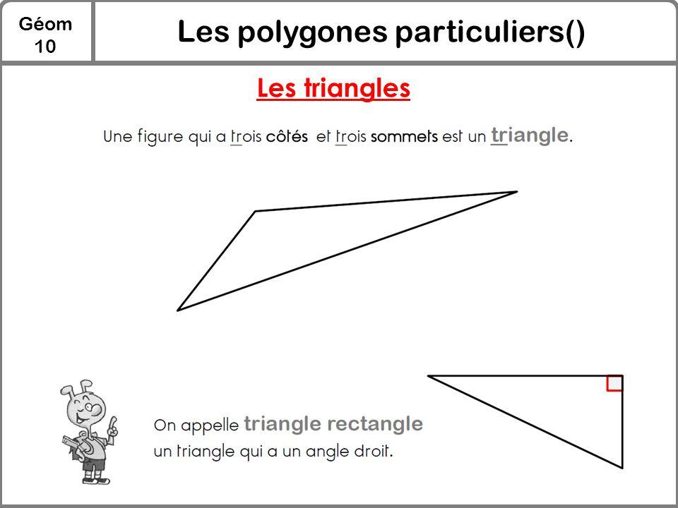 Les polygones particuliers()