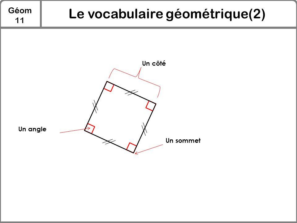 Le vocabulaire géométrique(2)