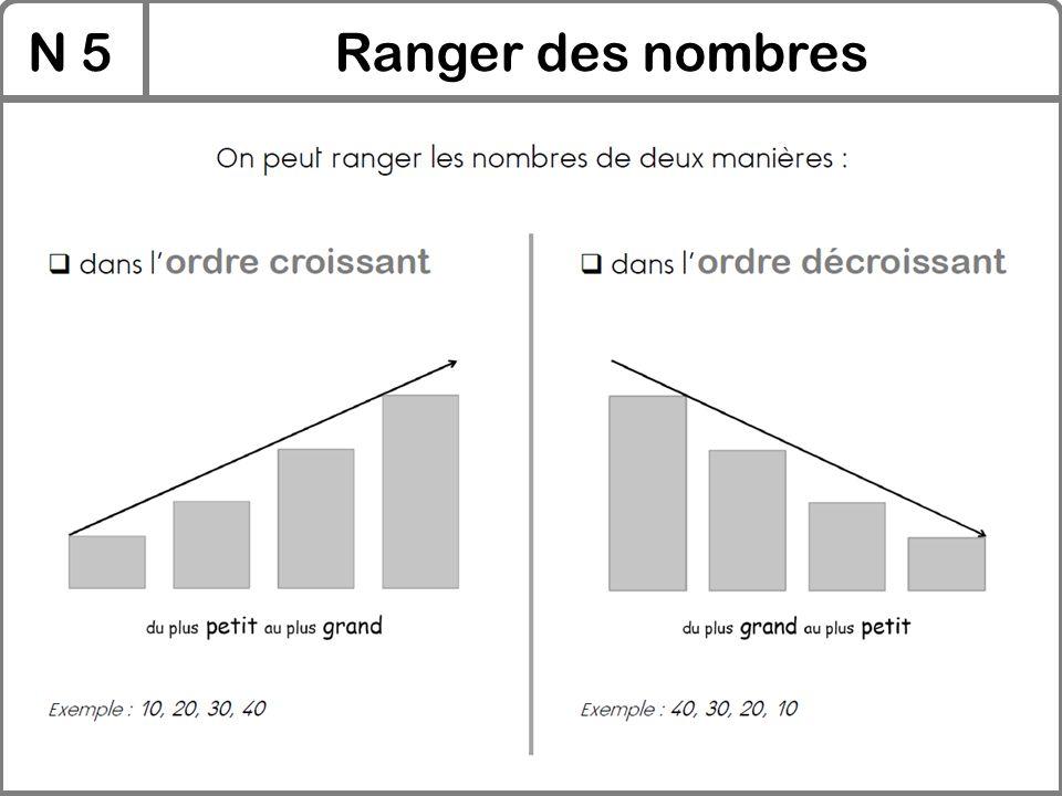 N 5 Ranger des nombres