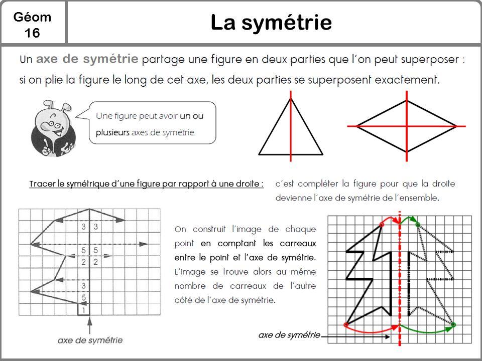 Géom 16 La symétrie