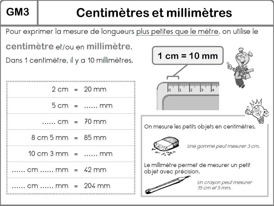 Centimètres et millimètres