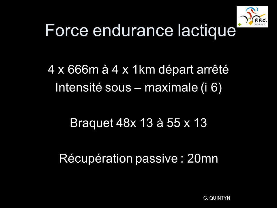 Force endurance lactique