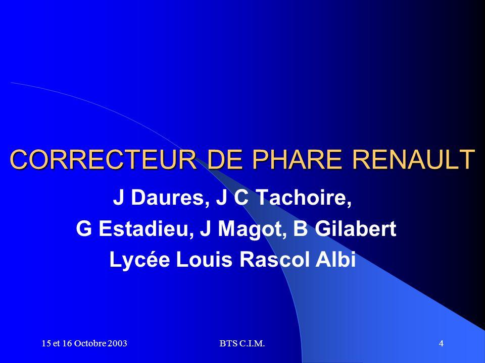 CORRECTEUR DE PHARE RENAULT