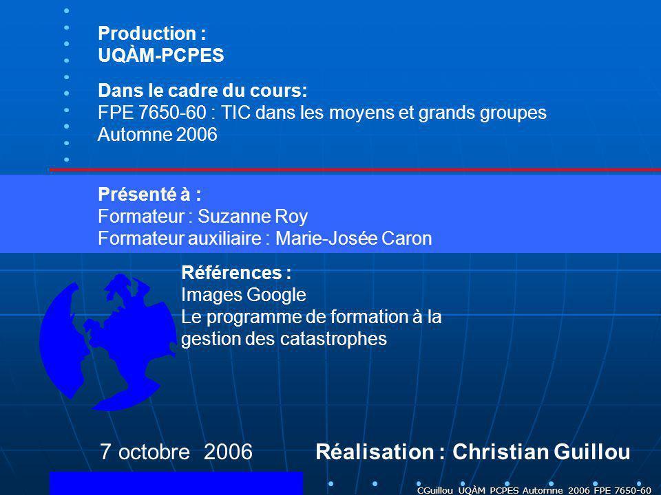 Réalisation : Christian Guillou
