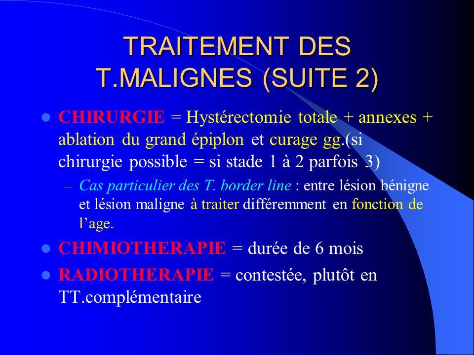 TRAITEMENT DES T.MALIGNES (SUITE 2)