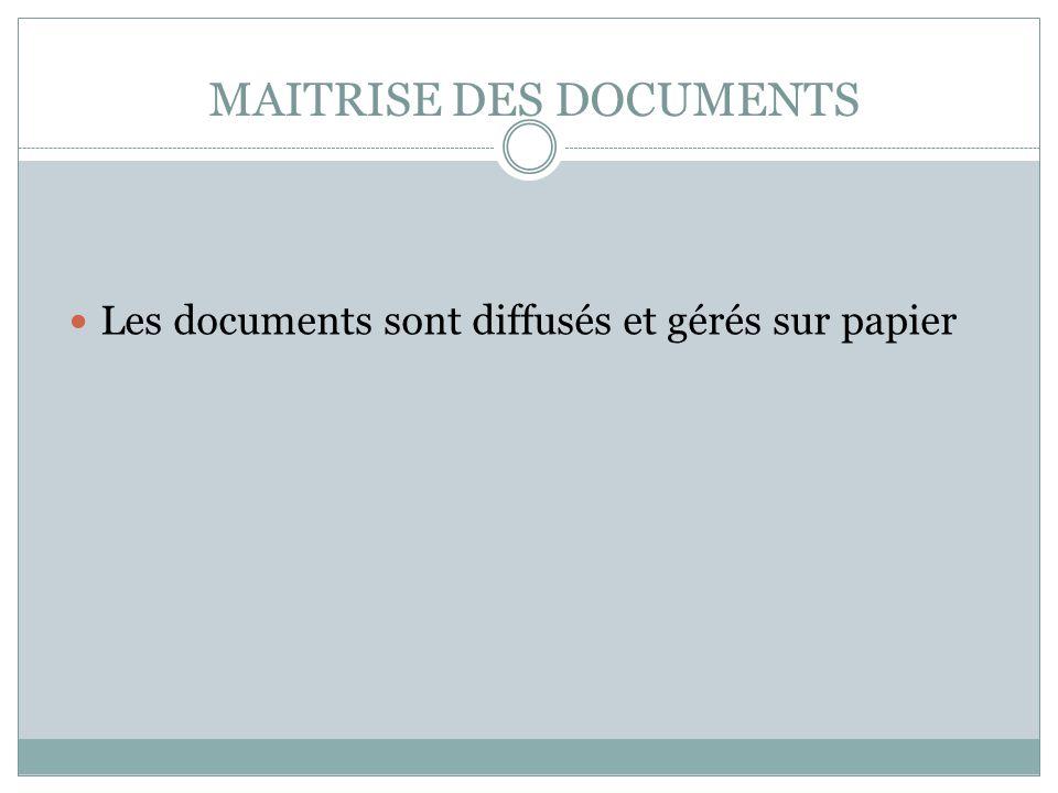 MAITRISE DES DOCUMENTS