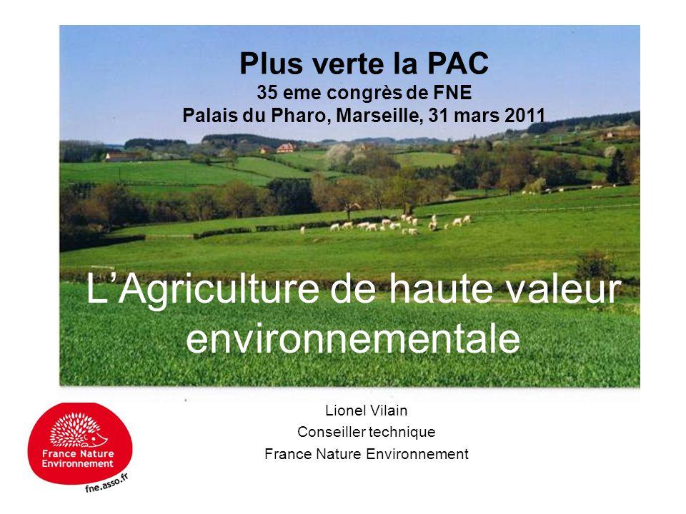 L'Agriculture de haute valeur environnementale