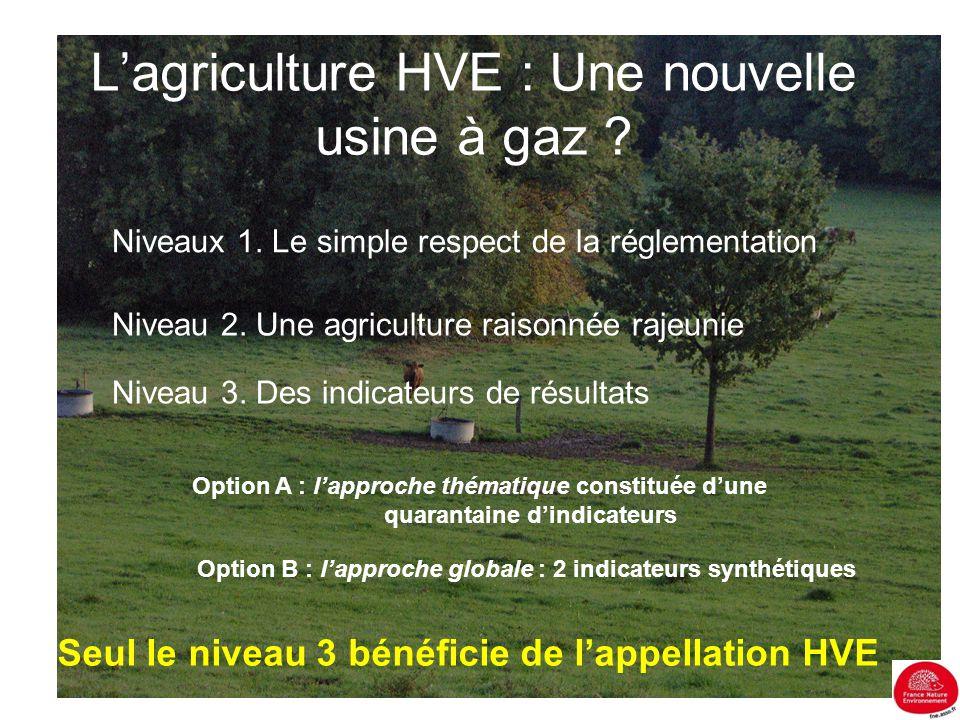 L'agriculture HVE : Une nouvelle usine à gaz