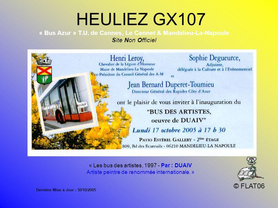 « Bus Azur » T.U. de Cannes, Le Cannet & Mandelieu-La-Napoule
