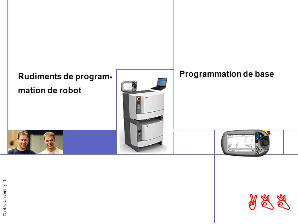 Rudiments de program- mation de robot