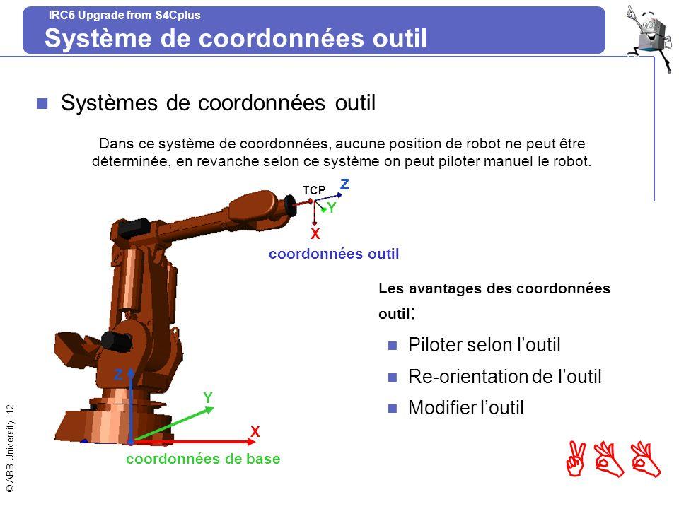 Système de coordonnées outil