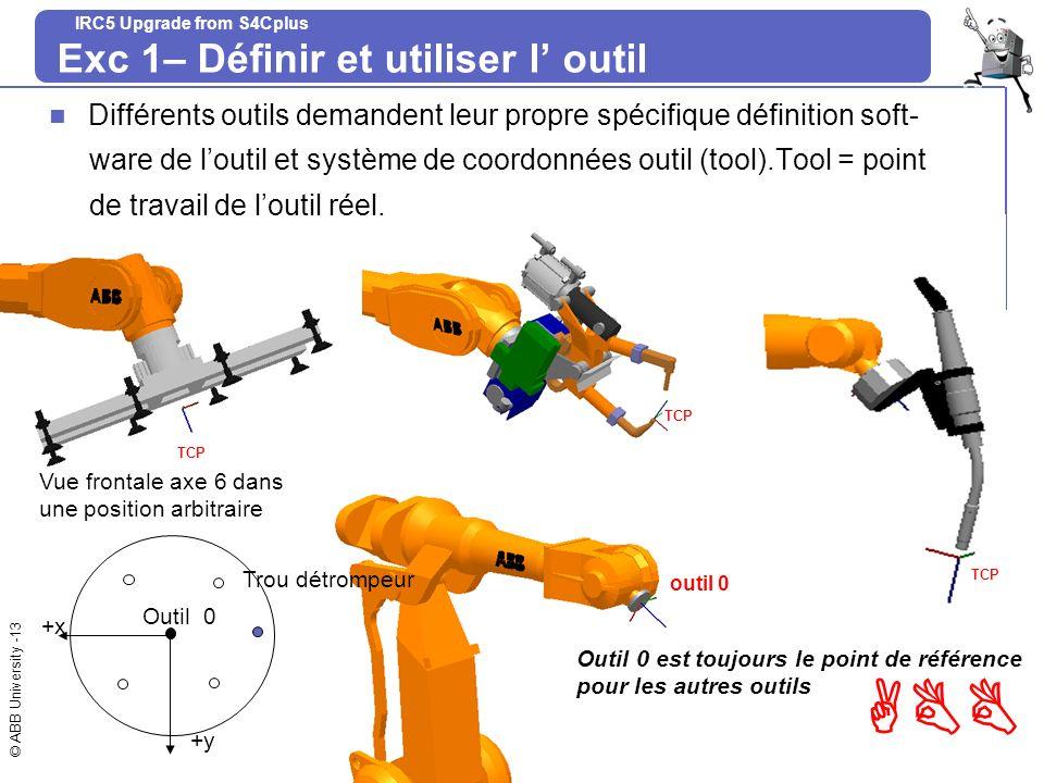 Exc 1– Définir et utiliser l' outil