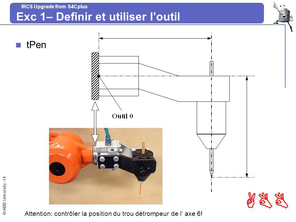 Exc 1– Definir et utiliser l'outil