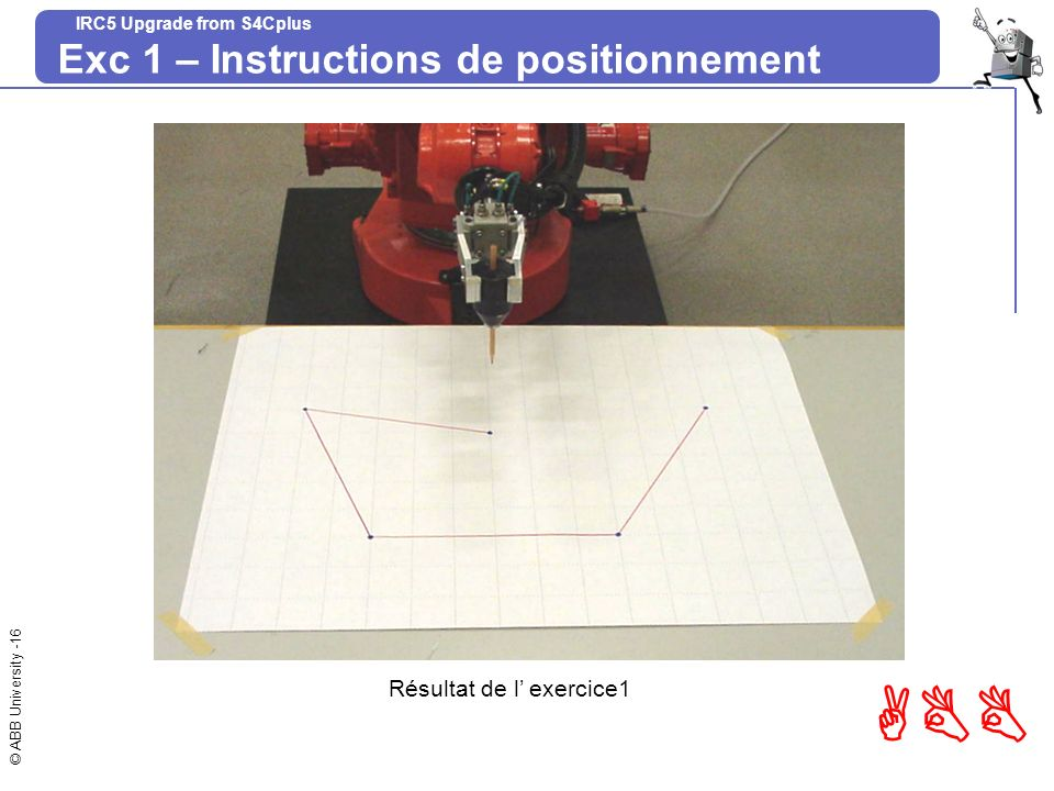 Exc 1 – Instructions de positionnement