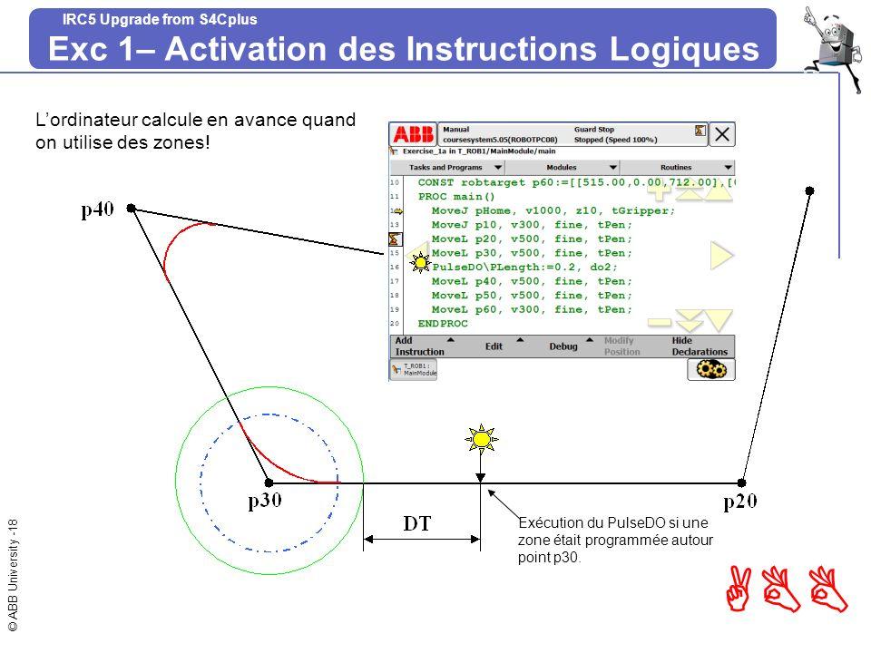 Exc 1– Activation des Instructions Logiques