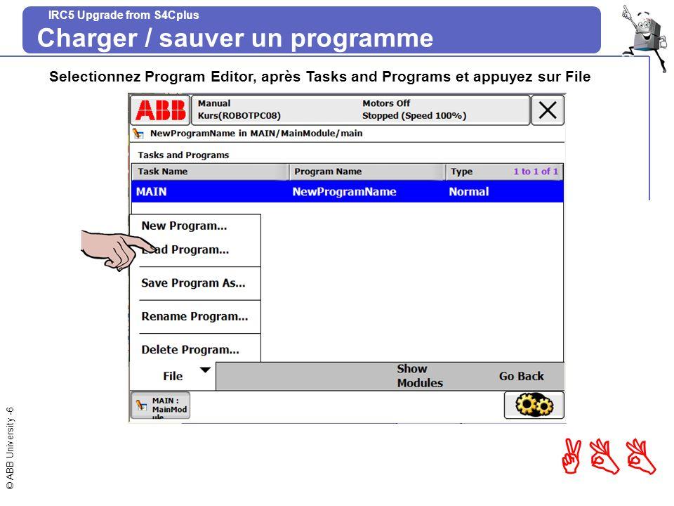 Charger / sauver un programme