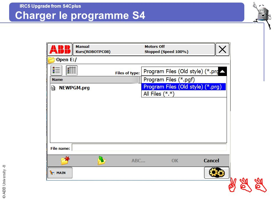 Charger le programme S4