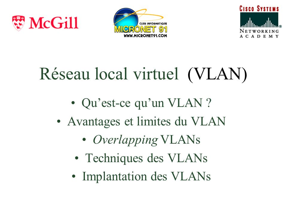 Réseau local virtuel (VLAN)